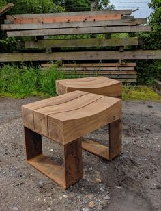 Type 7 Up-cycled single seats. Made from totally reclaimed greenheart timber, salvaged from uk ports . The seats come with carved seats or flat topped, and a choice of metal legs Timber Furniture, Bench Furniture, Diy Furniture Projects, Steel Furniture, Handmade Furniture, Cool Furniture, Furniture Design, Outdoor Furniture, Garden Seating