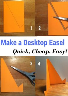 Make A Tabletop Easel: Quick, Cheap, Easy! Make this easel craft and use it to design your classroom, hold directions, … Diy Easel, Fun Classroom Activities, Common Core Math Standards, Support Telephone, Teaching Kids, Creative Teaching, Art Party, Art Education, Diy Art