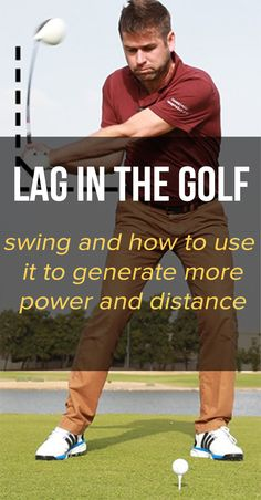 Golf Swing Drills What is lag in the golf swing and how to get more of it to hit longer golf shots on the course. Learn the keys to generate more lag in the golf swing, hitting the ball further and lowering your golf scores. Golf Club Sets, Golf Clubs, Golf Chipping Tips, Golf Trolley, Golf Score, Golf Putting Tips, Golf Videos, Golf Party, Golf Instruction