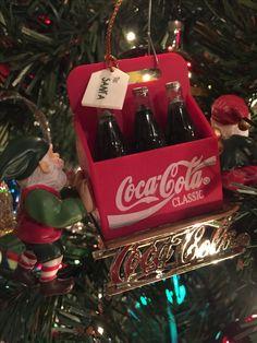 Coca Cola Christmas ornament.