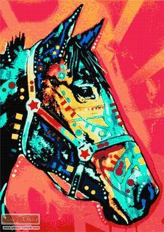 Horse No2 DR Dean Russo cross stitch kit | Yiotas XStitch
