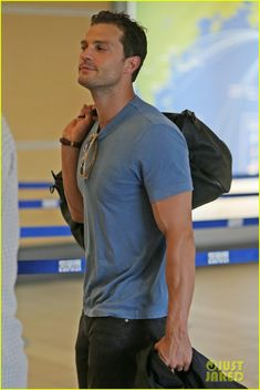Jamie Dornan Catches a Flight to Prague for Film Festival                                                                                                                                                                                 More