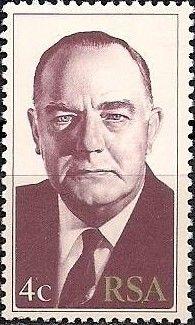 Stamp: B.J. Voster (South Africa) (President B.J. Vorster) Mi:ZA 546A,Yt:ZA 451