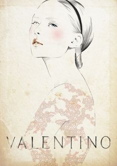 Valentino Fashion Graphic Sketch.