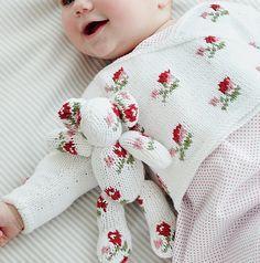Little Rosebud cardi and teddy pattern