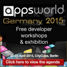 Event name: Apps World Germany 2015  Developer Event Germany:  Apps World is the leading global multi-platform event in the app industry - new for 2015 is the first Apps World Germany event taking place at CityCube in Berlin 22-23 April.  On Wednesday April 22, 2015 at 9:00 am (ends Thursday April 23, 2015 at 5:00 pm)  Category: Conferences  Price: Free  URLs: Booking: http://atnd.it/13944-1 Tickets: http://atnd.it/13944-2  Venue details: The City Cube, Messedamm 26, Berlin, 14055, Germany
