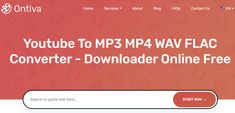 Youtube To Mp3 Mp4 Wav Flac Converter Converter Video Converter Youtube