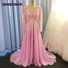 Prom Dresses Long Pink, Prom Dresses Long With Sleeves, Elegant Prom Dresses, Cheap Prom Dresses, Formal Dresses, Muslim Prom Dress, Beaded Prom Dress, 2 Piece Prom Dress, Vintage Prom