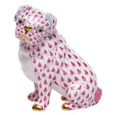 pink pug! something unique about it   it makes me laugh