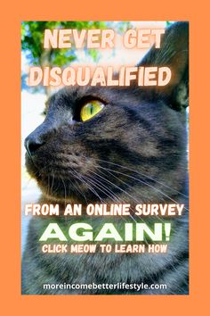 You don't need to waste your time taking half a survey and getting DQed ever again. This site is different and you get credit for every click you make. Click the cat to join meow. Work From Home Moms, Make Money From Home, Make Money Online, How To Make Money, Online Income, Online Jobs, Earn Extra Cash, Survey Sites, Paid Surveys