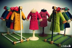 Boiled Wool Coats ! by *stellinna*, via Flickr