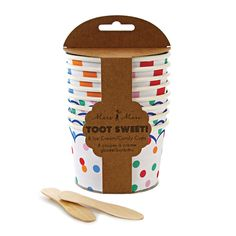 These Toot Sweet Ice Cream Candy Cup from Meri Meri do not look like cheap party decorations even though you get the party supplies at a discount. Ice Cream Tubs, Ice Cream Candy, Ice Cream Treats, Yummy Ice Cream, Ice Cream Bowl, Cream Cups, Cream Bowls, Sweet Party, Pots