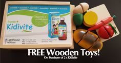 Kidivite is giving FREE Wooden Cooking toys! Yes, each worth over R250! - You get your FREE Shipping today. Claim yours today before Stocks run out!