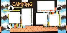 Let's go Camping - 12x12 Scrapbook Page kit