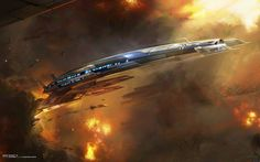 Mass Effect 3 Normandy Concept by Benjamin Huen