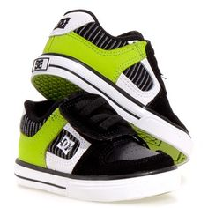 Dc Shoes PURE V Toddler $33.99 these wouldn't last a day with my monster but I love the lime and black