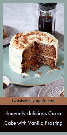 This is the best carrot cake ever. Its moist not too sweet and oh so delicious. Its one of my favorite cake recipes and soon yours too! Best Carrot Cake, Cupcakes, Vanilla Frosting, Unique Recipes, Stick Of Butter, Holiday Desserts, Cream Cake, Different Recipes, Cupcake Recipes