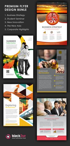 Corporate Flyers by Tony Huynh, via Behance