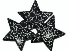 Stern Applikation Aufnäher Spinnweben Spinnennetz