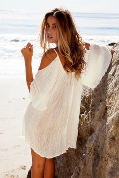 6cac744006dd New Woman Beach Dress swimwear cover up Sexy Swimwear Summer White Beach  Cover up Dress Swimsuit Katfan Tunic Hotsale