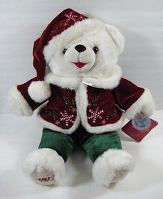 "Jumbo White SNOWFLAKE CHRISTMAS TEDDY Bear 2007 Dan Dee 20"" Plush Toy Shf"