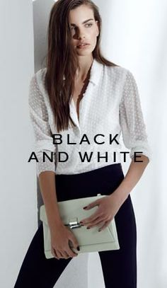 White PolkaDot blouse REISS
