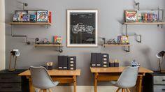 "10 shared kids' room ideas that put ""fun"" in functional Bedroom Study Area, Study Room Design, Study Room Decor, Study Space, Kids Bedroom, Bedroom Decor, Kids Rooms, Lego Bedroom, Room Kids"