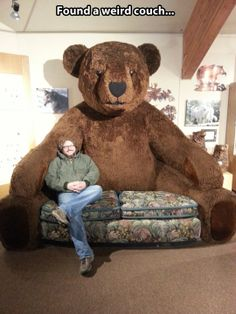 A couch of epic proportions…This couch looks angry.  Better call the Teddy Bear doctors.....
