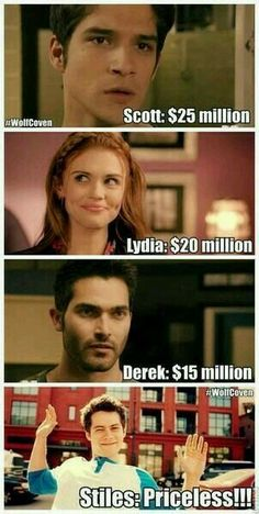 Hell yeah, stiles is priceless