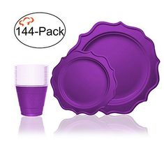 Tiger Chef Turquoise Color Round Scalloped Rim Disposable Plastic Plate Set for 48 Guests Includes 48 Dinner Plates, 48 Salad Plates - BPA-Free Camping Box, Camping With A Baby, Camping Theme, Party Plates, Dinner Plates, Disposable Plastic Plates, Baby Shower Checklist, Let The Fun Begin, Kids Party Themes