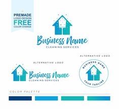 Cleaning logo, House Cleaner Logo, Premade Housekeeper Logo, Cleaning Service Branding, Maid Logo, Cleaning business logo, 404 Cleaning Service Logo, Cleaning Services, Branding Kit, Branding Design, Logo Design, Business Logo, Business Card Design, Cleaning Business, Home Logo