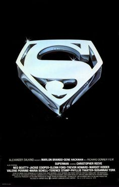 DC Comics in film - 1978 - Superman by Richard Donner - Movie poster Black Superman, Superman Logo, Superman Poster, Superman Art, Superman Movies, Superman Family, Movie Poster Art, Film Posters, Sarah Douglas