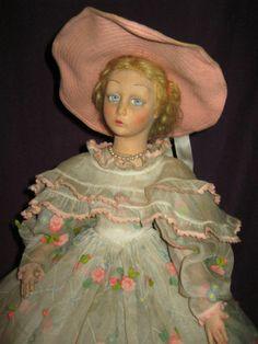 Antique 1930 Felt Lenci Lady Boudoir Doll Lavinia Model | eBay