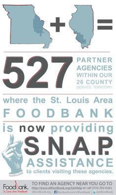 The St. Louis Area Foodbank is now providing S.N.A.P. assistance at all of our 527 partner agencies in Missouri and Illinois.