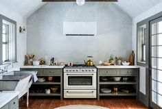 Steal This Look: A New York Kitchen with Old World Charm - Remodelista Painting Kitchen Cabinets, Kitchen Paint, Green Kitchen, New Kitchen, Kitchen Colors, Bakers Kitchen, Kitchen Tips, Kitchen Ideas, Kitchen Nook