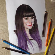Jessie J pronta. Espero que gostem, fiz ela mais antiga haha☺️✌️. Marquem os migos e migas. #arts_help #nawden