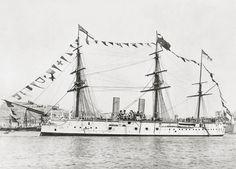 HMS Alexandra in Malta, late 1880s.