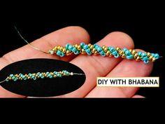 Making Bracelets With Beads, Bead Loom Bracelets, Beaded Necklace Patterns, Jewelry Patterns, Beaded Jewelry Designs, Embroidery Bracelets, Bead Jewellery, Bracelet Designs, Handmade Bracelets