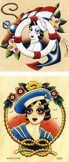 Angelique Houtkamp retro tattoos
