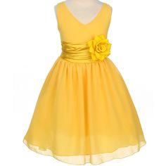 Beautiful ivorycanary light yellow flower girl dress free headpiece flower girl dresses goldyellow dresses flower girl dresses discount cheap designer dressforless mightylinksfo