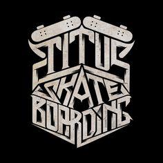 Titus Skateboarding by Mister Doodle
