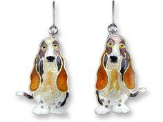 Adorable Basset Hound Jewelry ... #pets #animals ... PetsLady.com
