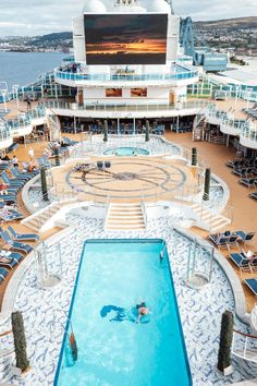 Photos of Our British Isles Cruise Part 2 - Sugar & Cloth top deck pool on Princess Cruises - Photos of Our British Isles Cruise with Family! Travel Couple, Family Travel, Princess Cruises, Pool Decks, Girls Weekend, British Isles, Us Travel, Travel Guides, Places To Go