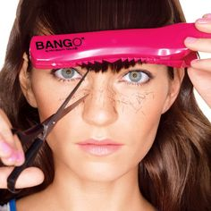 How to Trim Your Own Bangs  http://www.womenshealthmag.com/beauty/how-to-trim-your-own-bangs