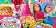 Personalized party products for a Lalaloopsy birthday party!