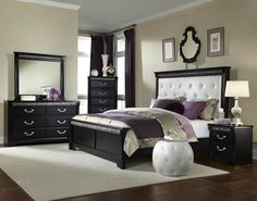 Standard Furniture Venetian Black Piece Panel Bedroom Set Sets Antevorta