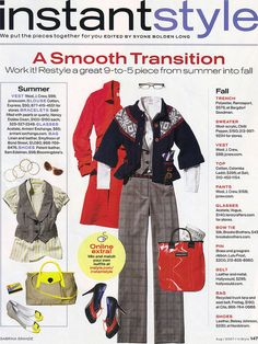 InStyle Aug 2007 Instant Style - A Smooth Transition:  Summer to Fall