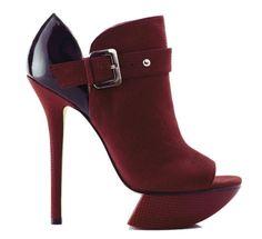 haute+shoes | Haute Shoe of the Week Wednesday camilla-skovgaard-red-peep-toe-boots ...