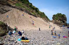 Sand Ski  in Shimoda #japan #shizuoka