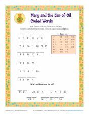 Mary and the Jar of Oil Coded Words